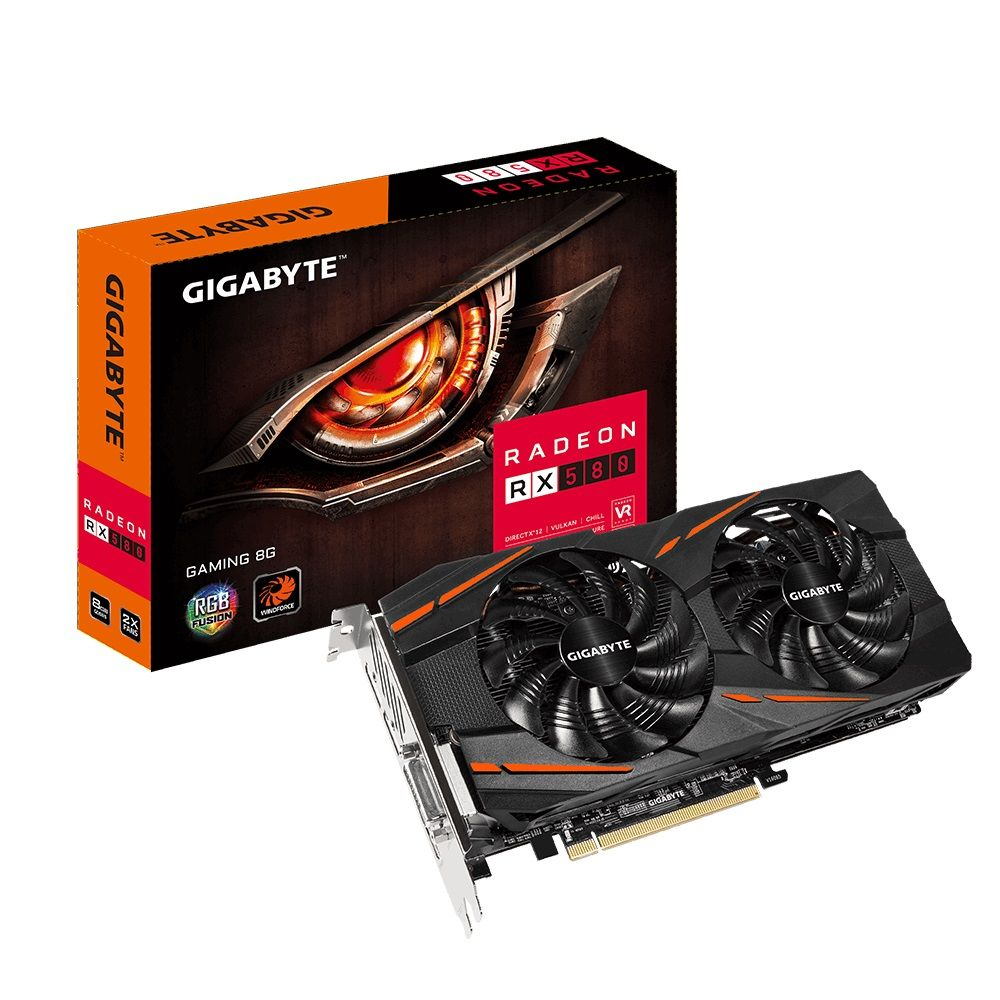 Placa de Vídeo RX 580 8GB 256 bits Gaming Gigabyte